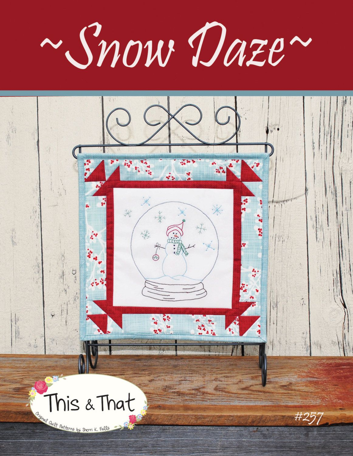 Snow Daze Embroidery Pattern Download