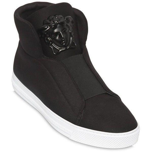 9fb4755d3b Versace Men Medusa Neoprene High Top Sneakers ($1,060) ❤ liked on ...
