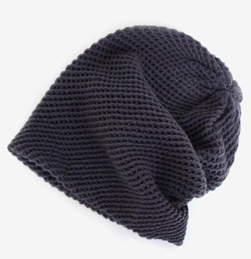 Crosshatch Knit Beanie in Charcoal  20 Inverno Confortevole d74dbe0256a1
