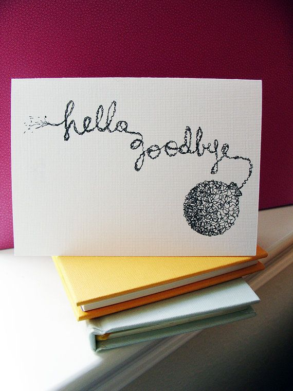 Hello Goodbye Blank Cards With Envelopes  Etsy