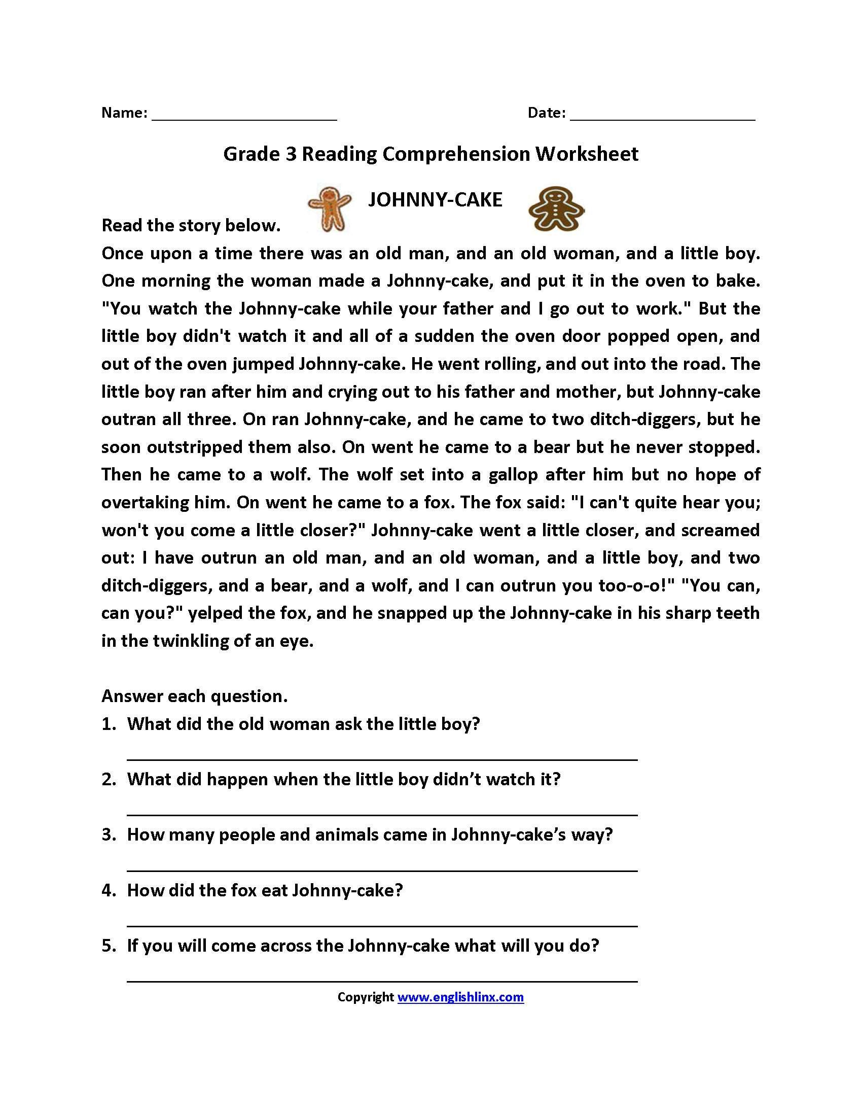 5 Reading Reading Comprehension 9 11 reading prehens…   Third grade reading  worksheets [ 2200 x 1700 Pixel ]