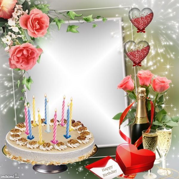Image result for personalized happy birthday picture frame - birthday wish template