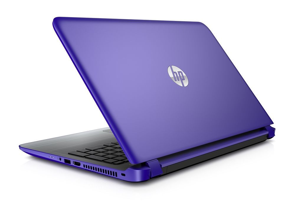 HP Laptop Computer Purple 15 6'' Windows 10 Quad-Core 6GB
