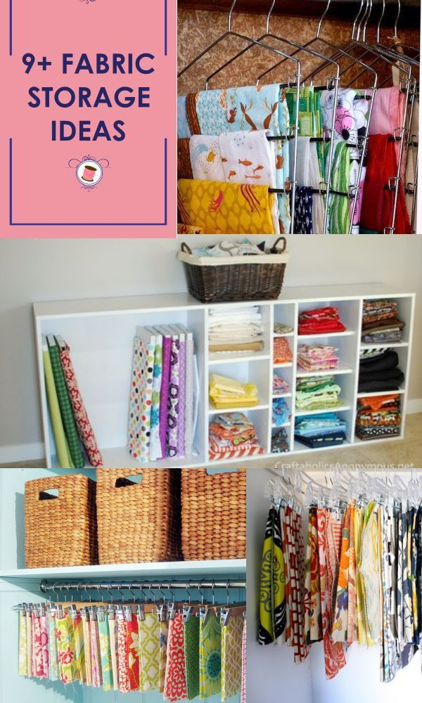 17 Awesome Fabric Storage Ideas Fabric Organization Sewing Room Decor Sewing Sewing Room Storage Sewing Room Design Sewing Room Organization