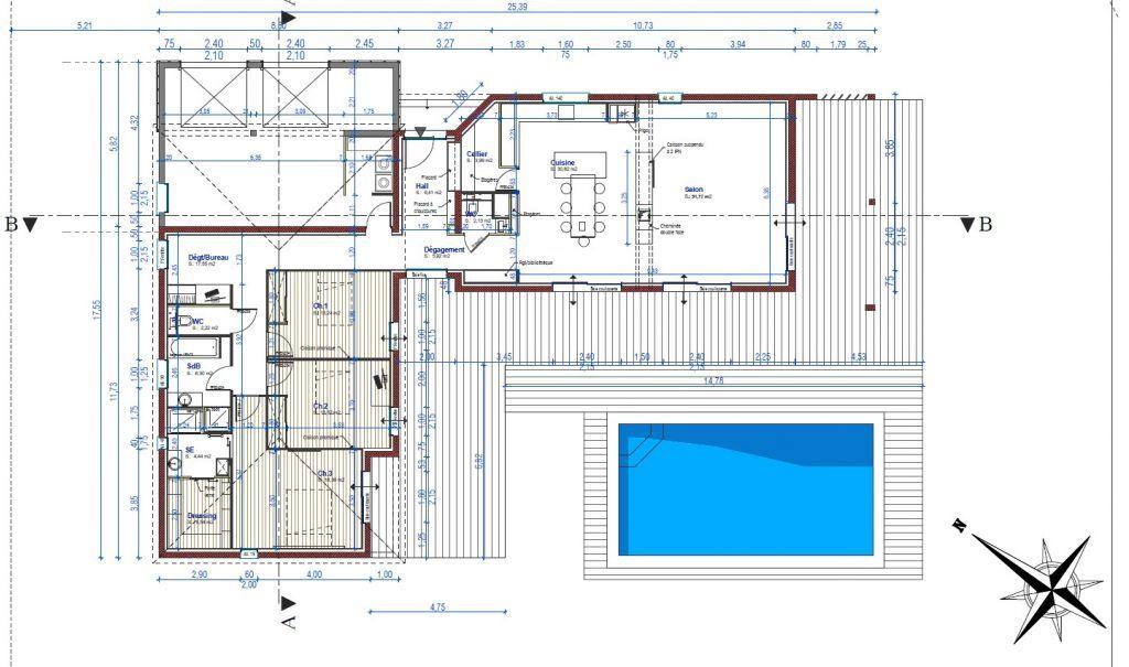 plan des pieces auto construction de a z maison 220 m2 dans l herault par xa34 sur. Black Bedroom Furniture Sets. Home Design Ideas