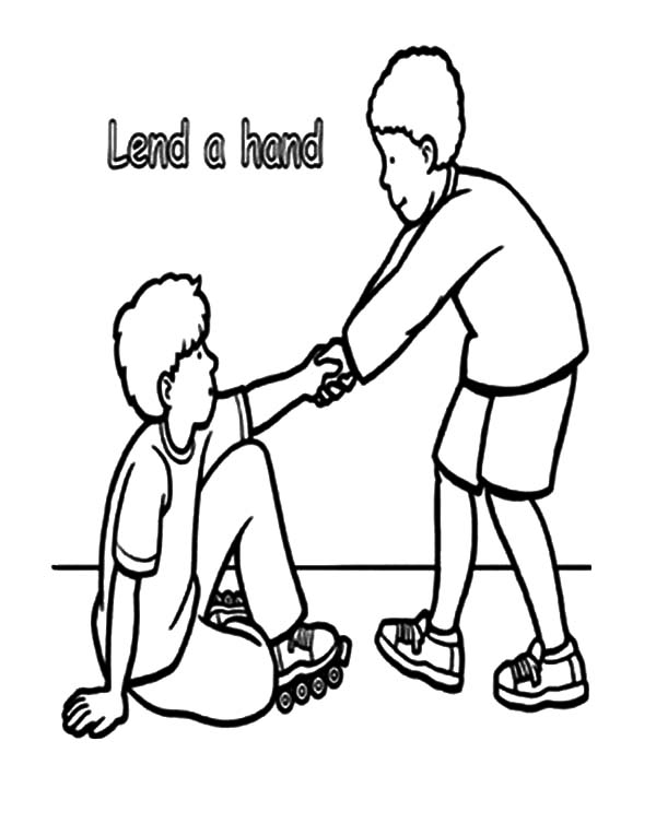 Lend A Hand And Helping Others Coloring Pages Coloring Sky Coloring Pages Kindergarten Coloring Pages Free Thanksgiving Coloring Pages