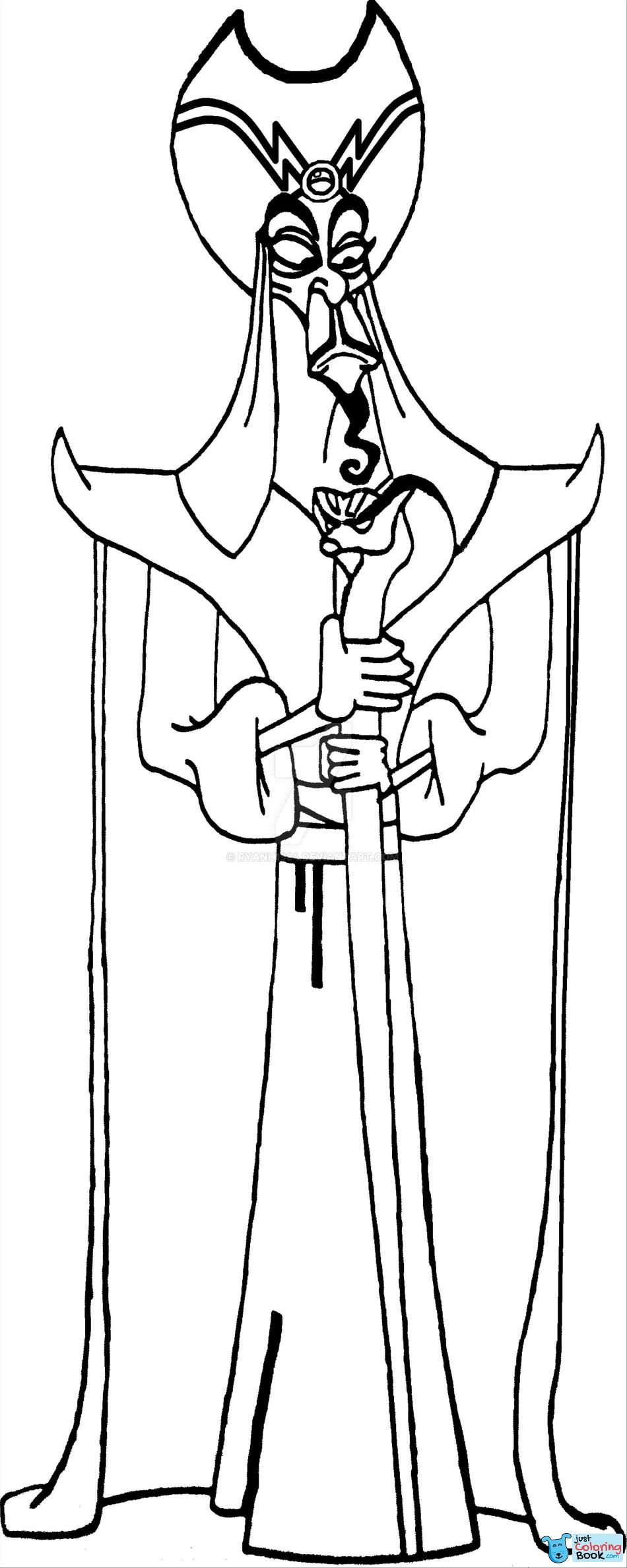 Free Jafar Coloring Pages Coloring Pages Disney Coloring Pages Coloring Pages For Kids
