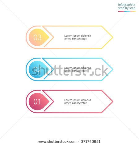 Outline infographics step by step in the form of arrows linear outline infographics step by step in the form of arrows linear diagram scheme ccuart Images