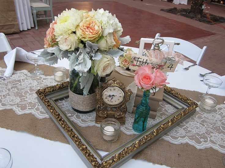 Picture frame wedding centerpieces google search