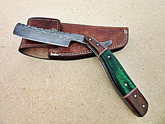 Overview Handmade Item Materials Damascus Steel Wood Ships Worldwide From United Kingdom Rock Solid Thick Blade With Gorg Straight Razor Damascus Steel Razor