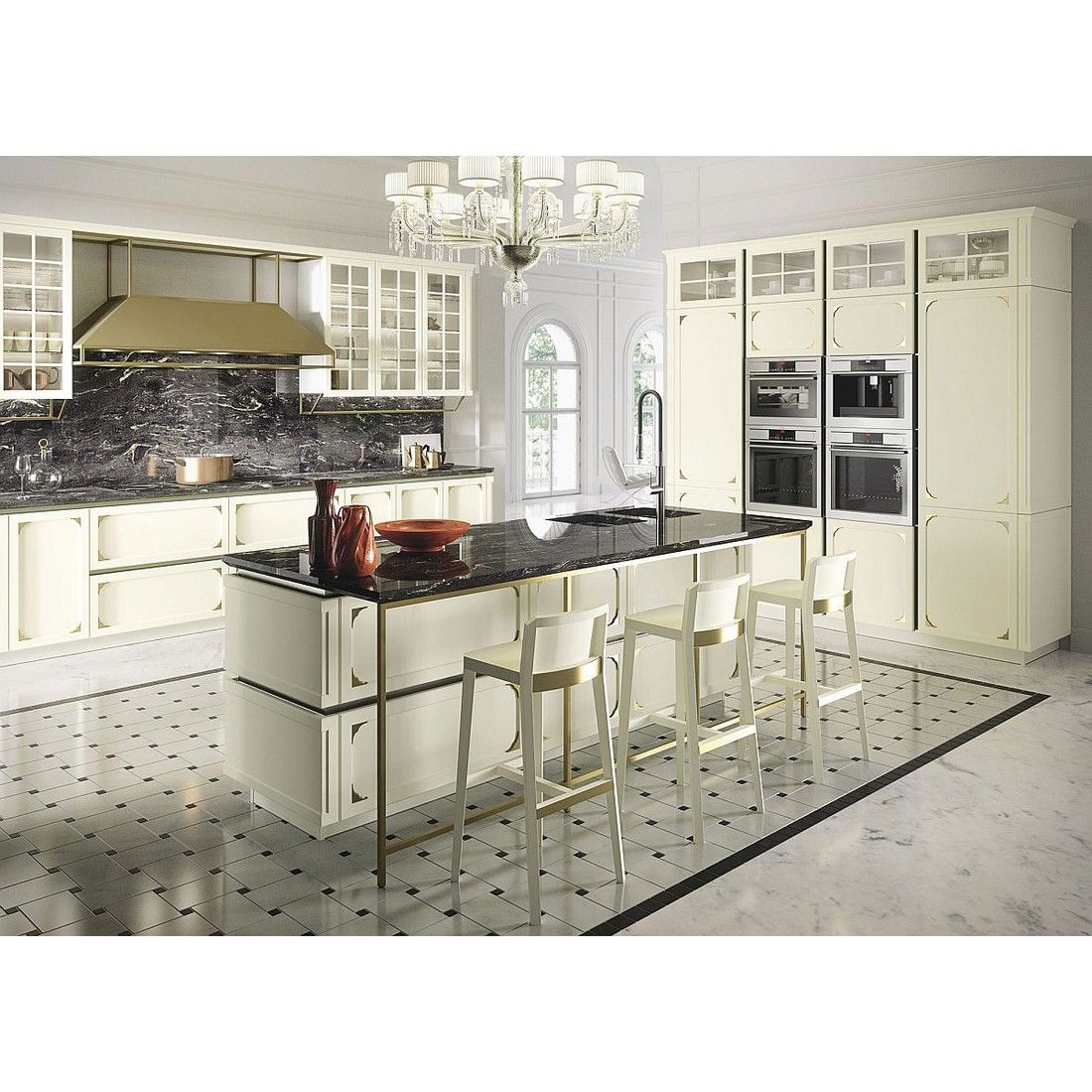Kitchen Island And Bar At Once In Glamorous Style Yay Or Nay Rumahkukitchen Classic Kitchen Furniture Modern Kitchen Design Timeless Kitchen