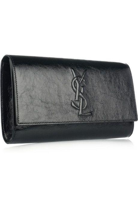 ysl black clutch ...  fdbcff95468be