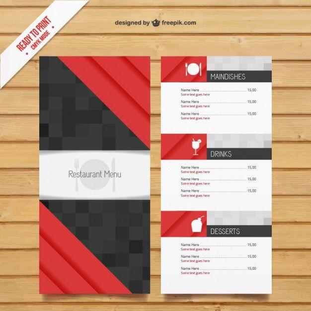 free modern restaurant menu template graphics pinterest menu