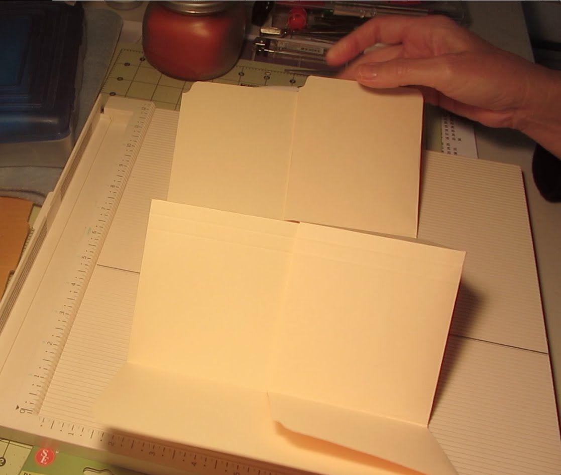 Office Folder Mini Album Task Manila Craft Tutorial