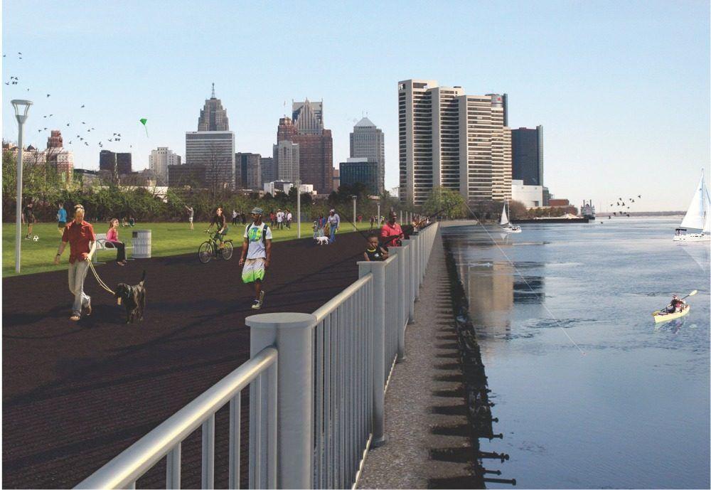Now Open Detroit RiverWalk Unveils Western Extension | Westerns Detroit And Extensions