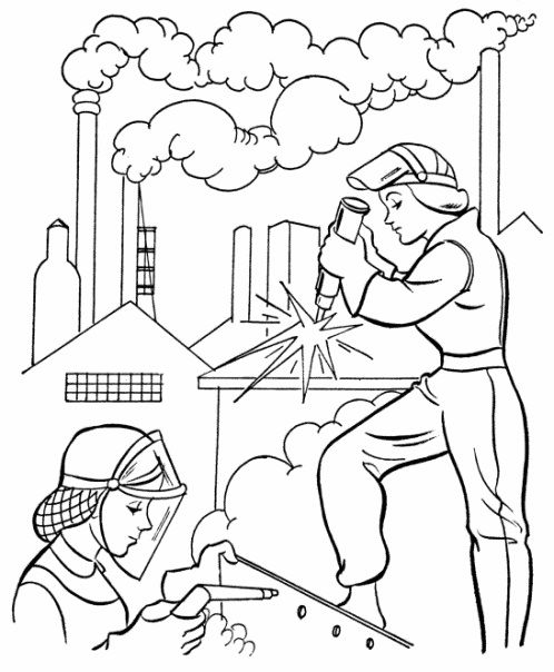 american workers coloring pages coloring panda labor daycoloring - Labor Day Coloring Pages Kids