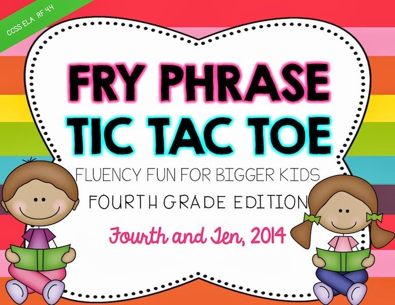 Fry Phrase games for Fluency Tubs