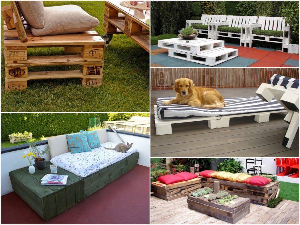 Canape Palette Diy Terrasse Palette Faire Une Terrasse Et Mobilier De Salon