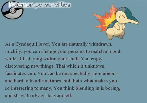 My pokemon personality.