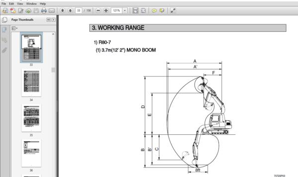 Hyundai R80 7 India Crawler Excavator Operators Manual Hyundai Excavator Hydraulic Breaker