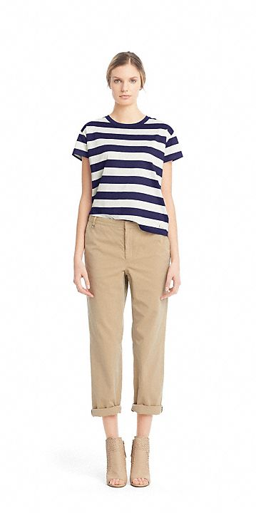 Coach The Cotton Jersey Stripe Tee Striped Tee Tees My Style