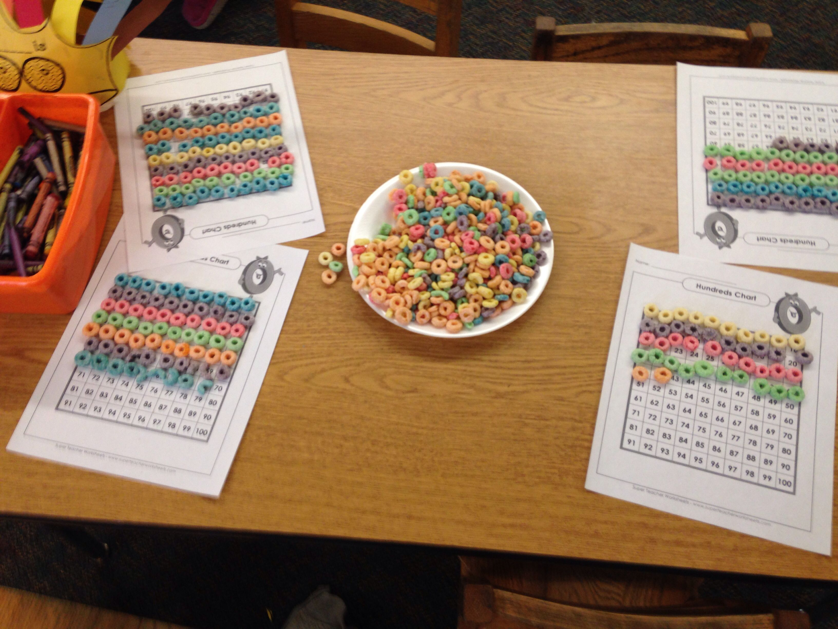 Using 100s Chart To Count Out 100th Day Of School With