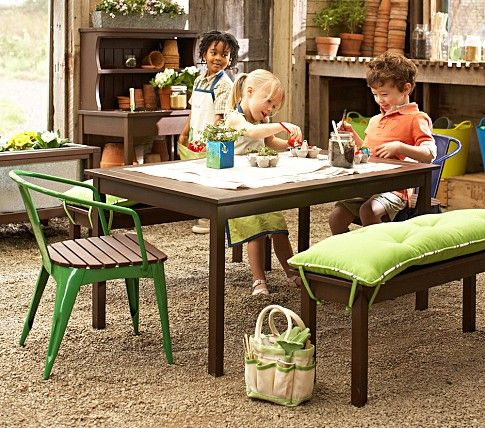 chesapeake table bench pottery barn kids outdoors pinterest rh pinterest com Sunbrella Outdoor Furniture Pottery Barn Outlet Online