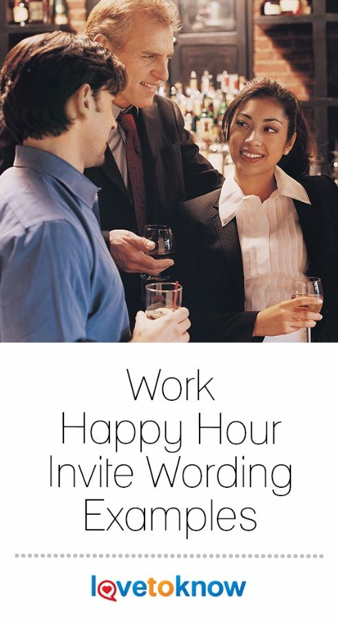 work happy hour invite wording examples
