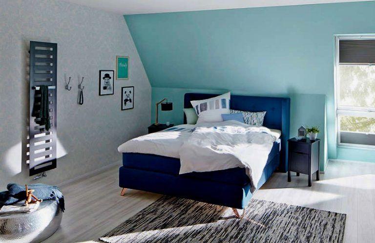 Erstaunlich Wandfarbe Schlafzimmer Dachschräge Farbe