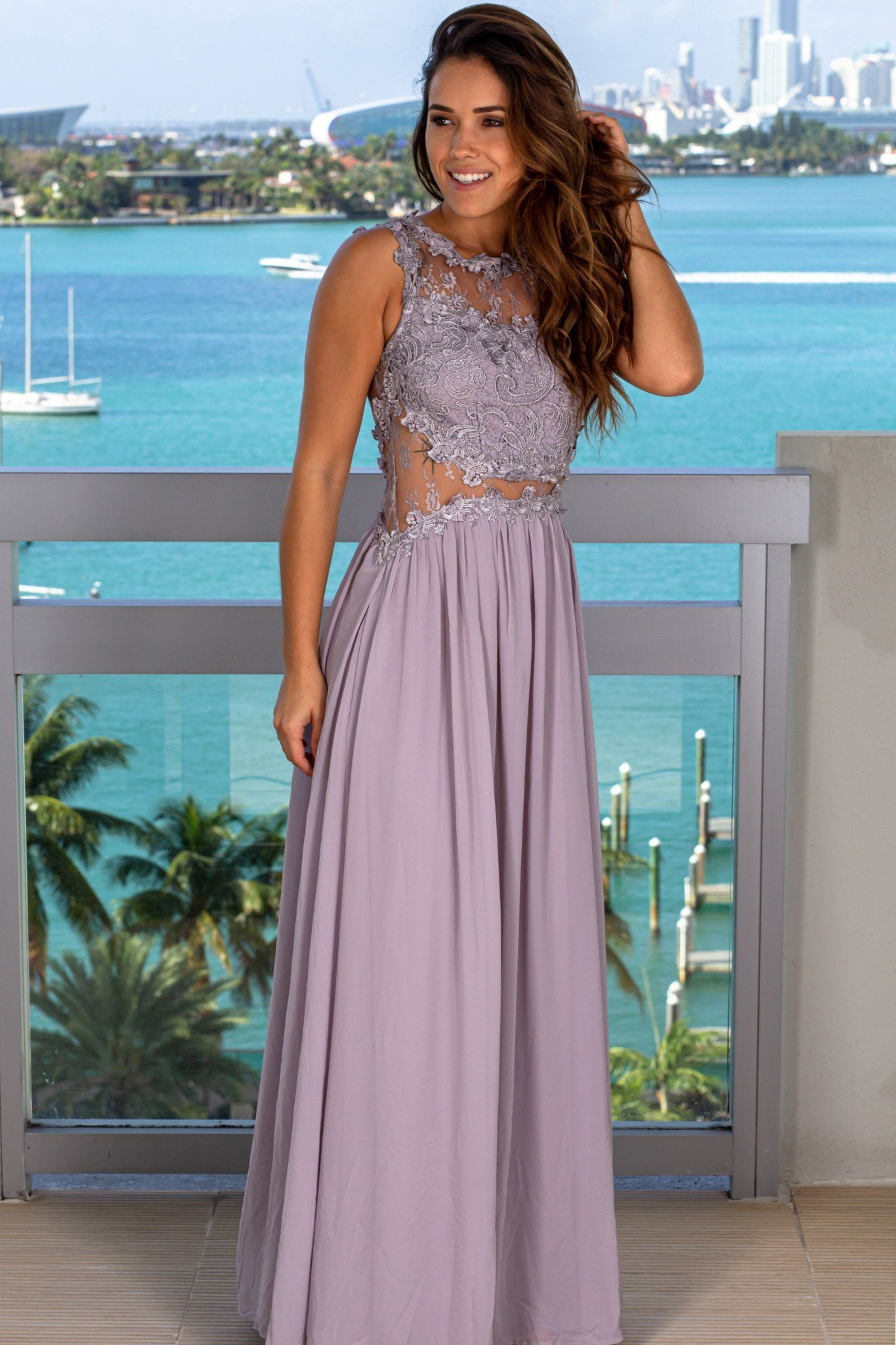 30++ Lace top maxi dress information