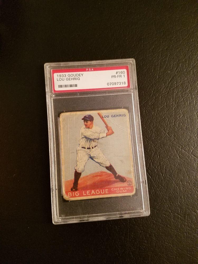 1933 Goudey PSA 1 Lou Gehrig Rookie Nice Eye Appeal LK