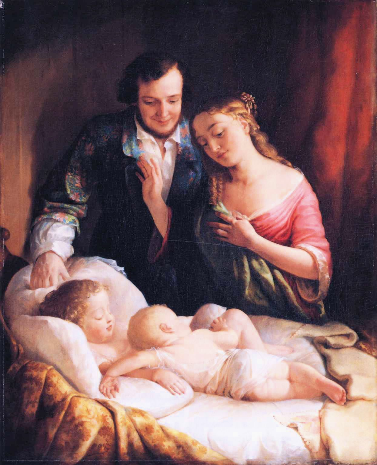 Lilly Martin Spencer — Domestic Happiness,1849