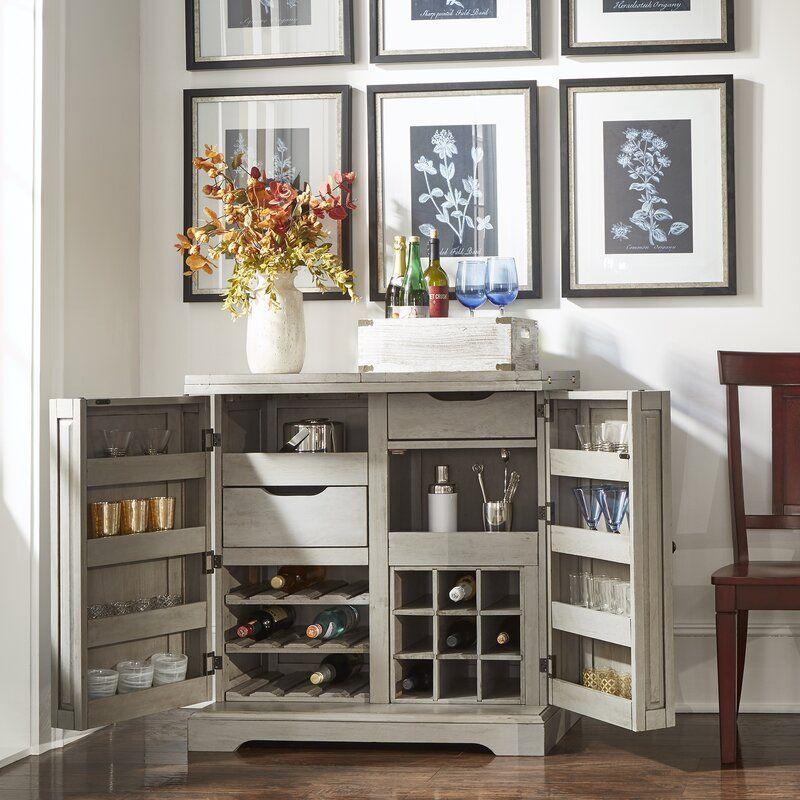Rheingold Bar Cabinet With Wine Storage In 2020 Wine Storage Cabinets Bar Cabinet Decor Dining Room Storage Cabinet