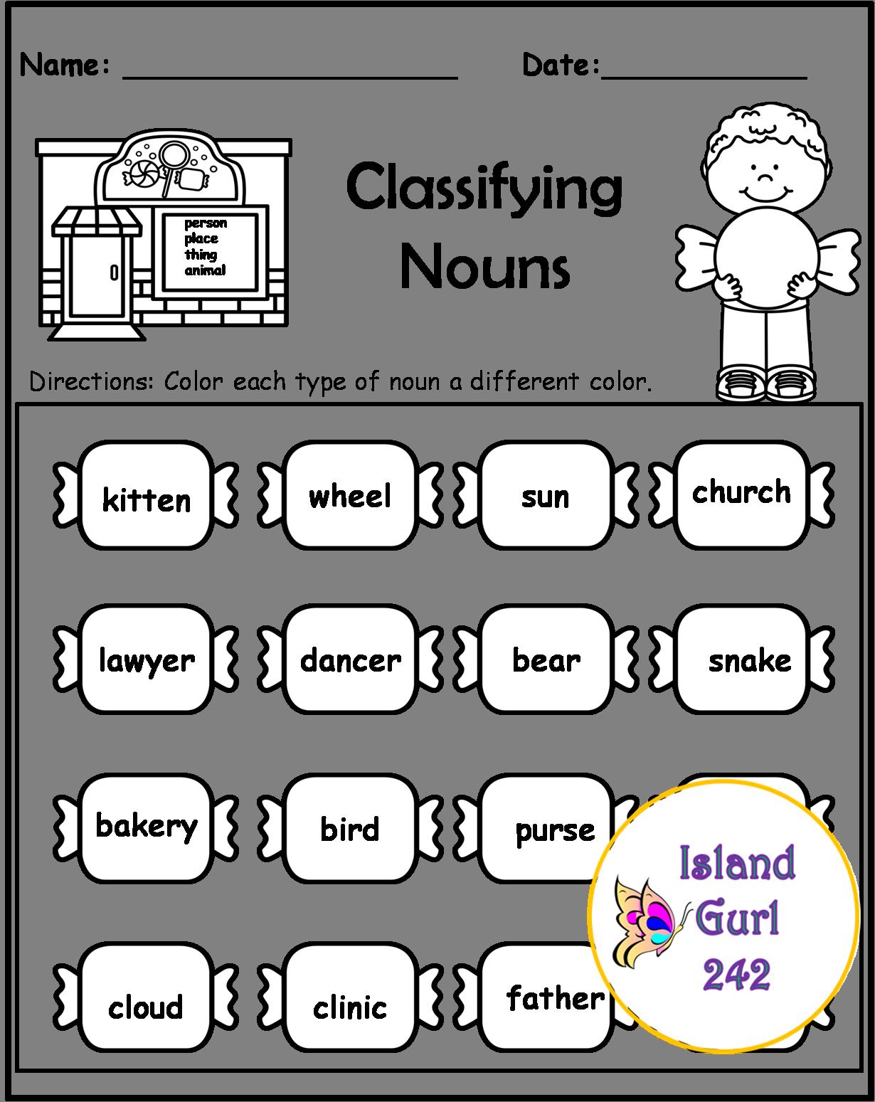 Nouns Worksheets   Nouns worksheet [ 1549 x 1230 Pixel ]