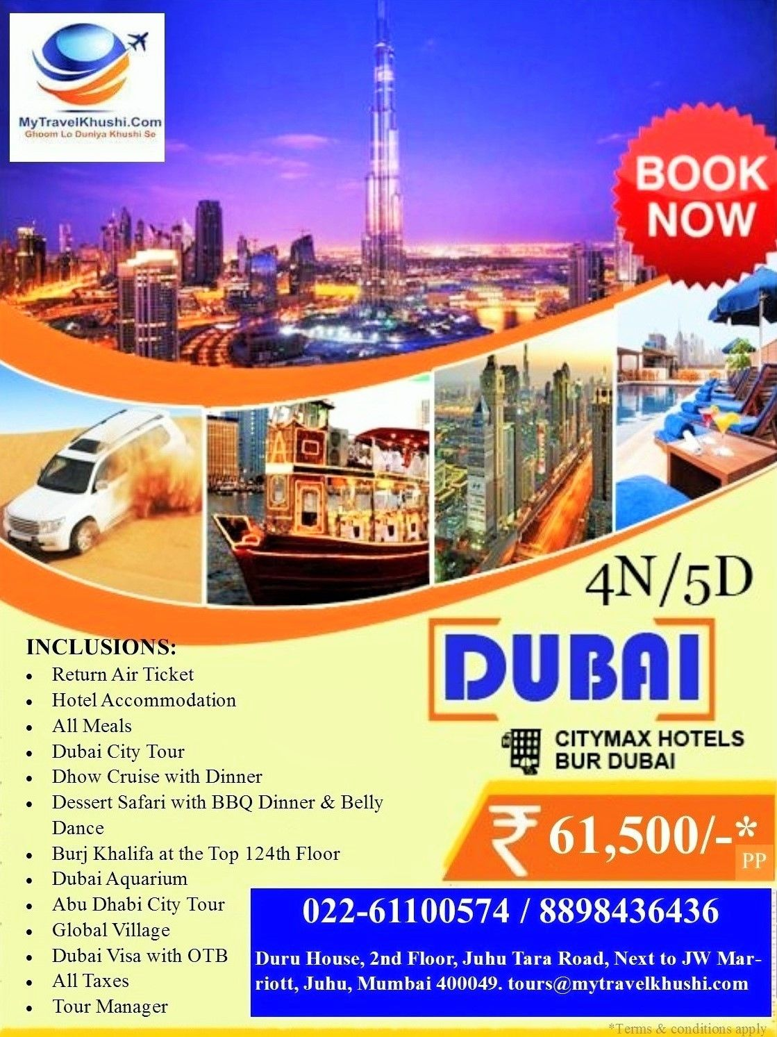 Travel & Tours by Quizine Savoury Gourmet | Dubai holidays