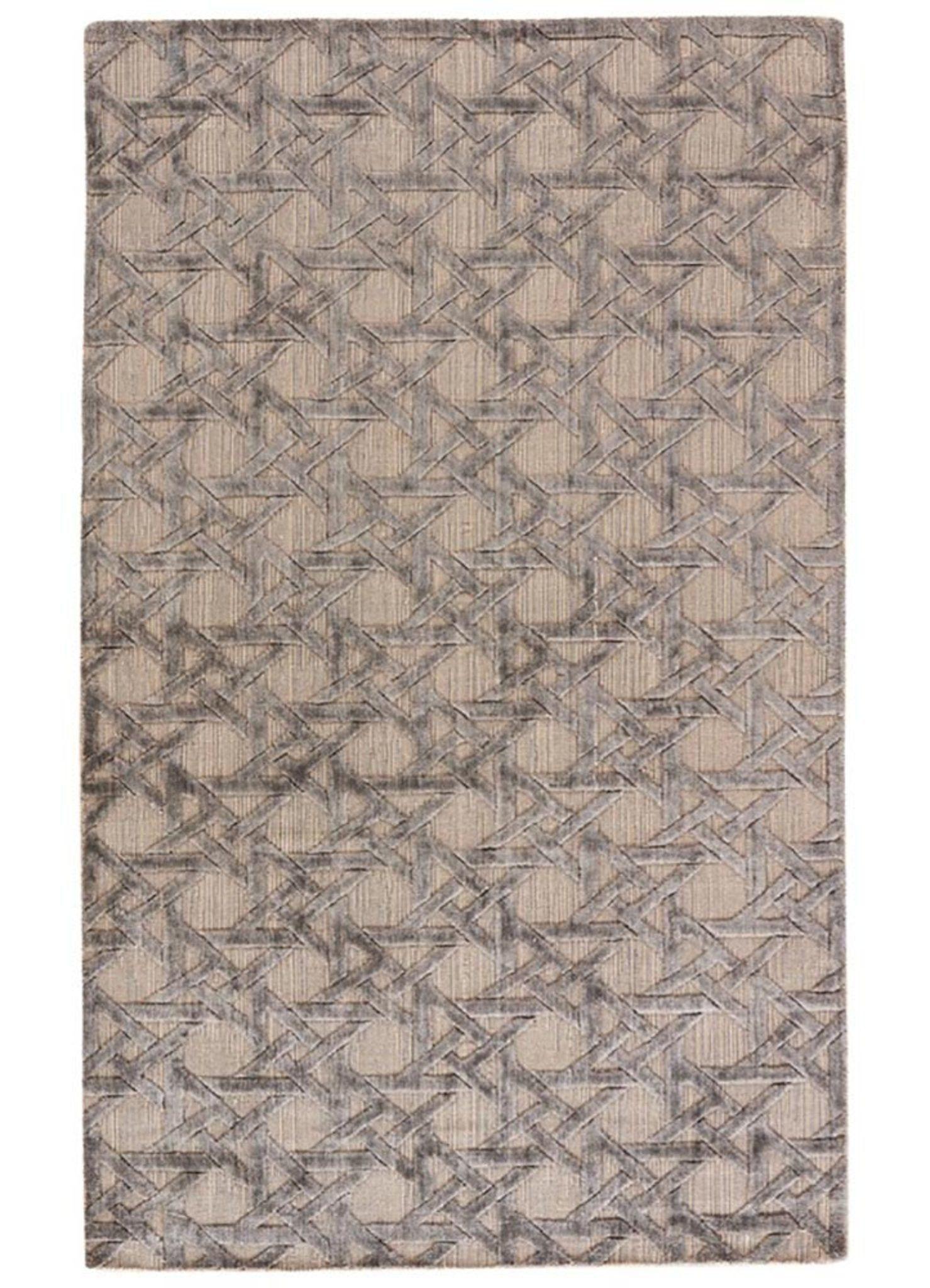 Solids Handloom Phwv 24 Dark Ivory Charcoal Slate Wool And Viscose Rug