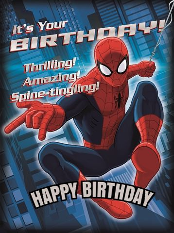 Spiderman Birthday Card : spiderman, birthday, Spiderman, Birthday, Ecards, Happy, Spiderman,, Birthday,