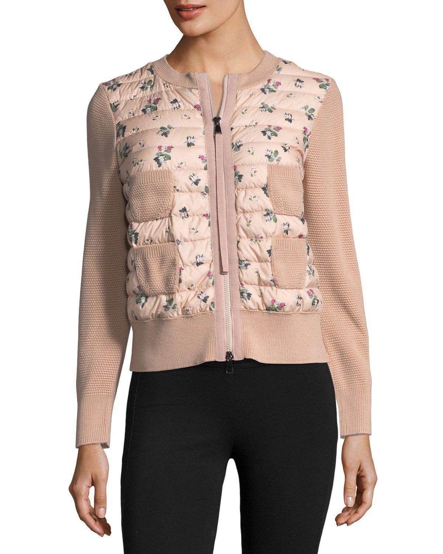 Maglia Floral-Printed Knit Jacket w  Puffer  595208b57