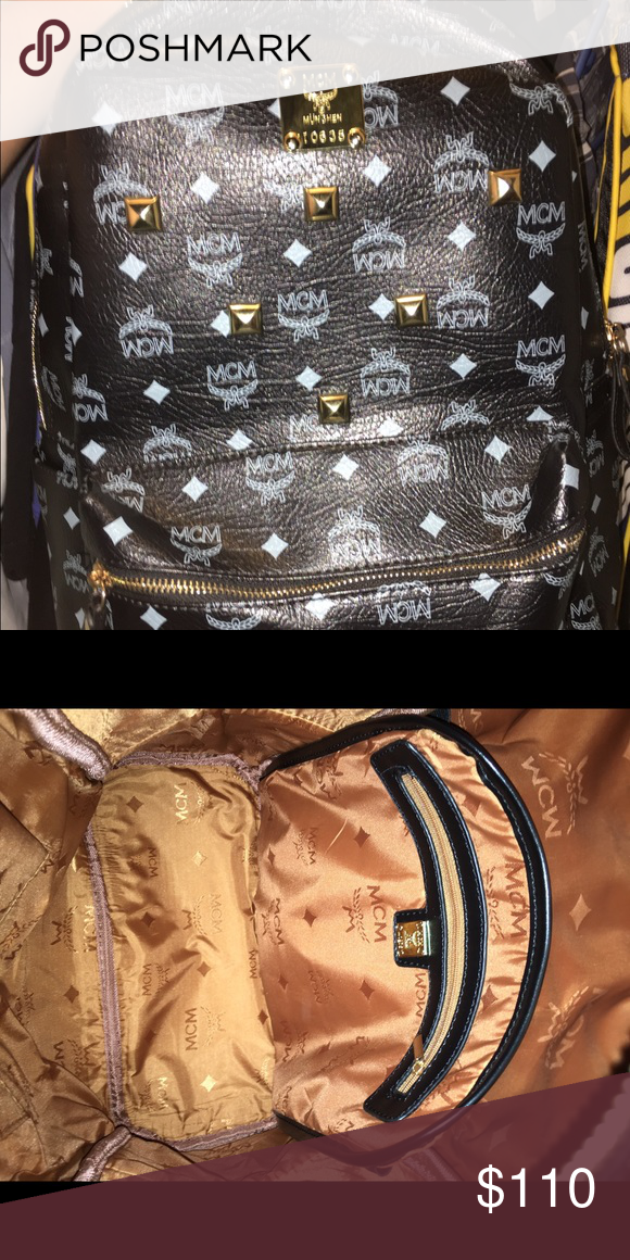 Knock Off Mcm Bag Good Condition Not Authentic Bags Backpacks