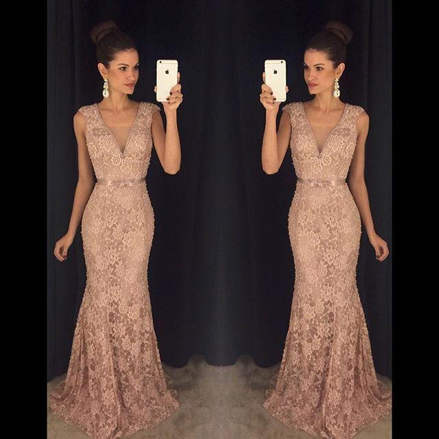 Vestidos longos de renda instagram