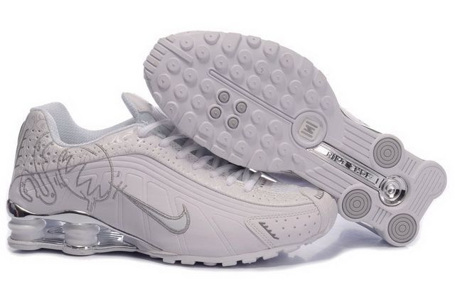 Buy Women's Nike Shox Shoes White/Grey/Brilliant Silver Authentic from  Reliable Women's Nike Shox Shoes White/Grey/Brilliant Silver Authentic  suppliers.