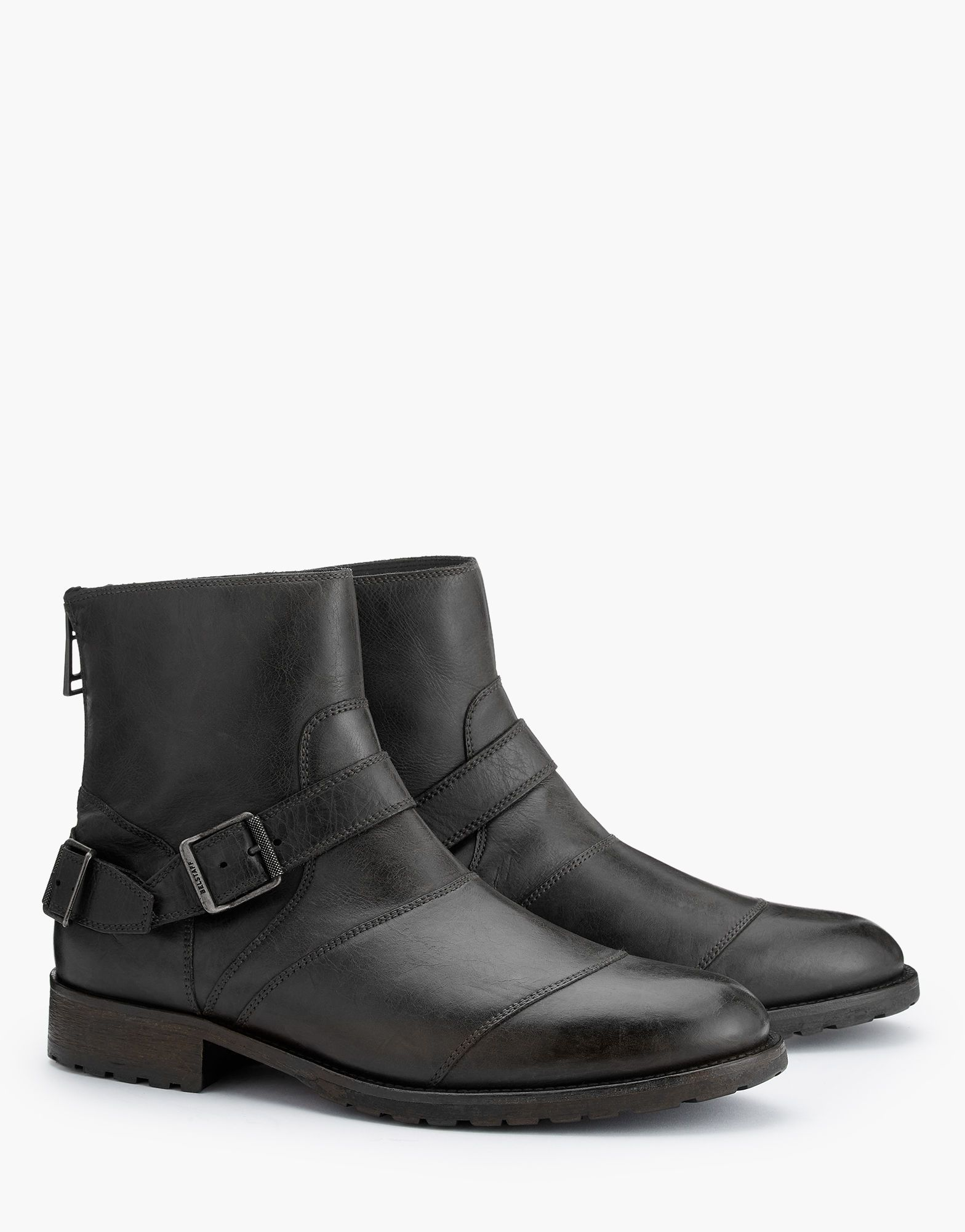11b86e334e1 Belstaff - Trialmaster Boots - Black Hand Waxed Leather | Boots ...