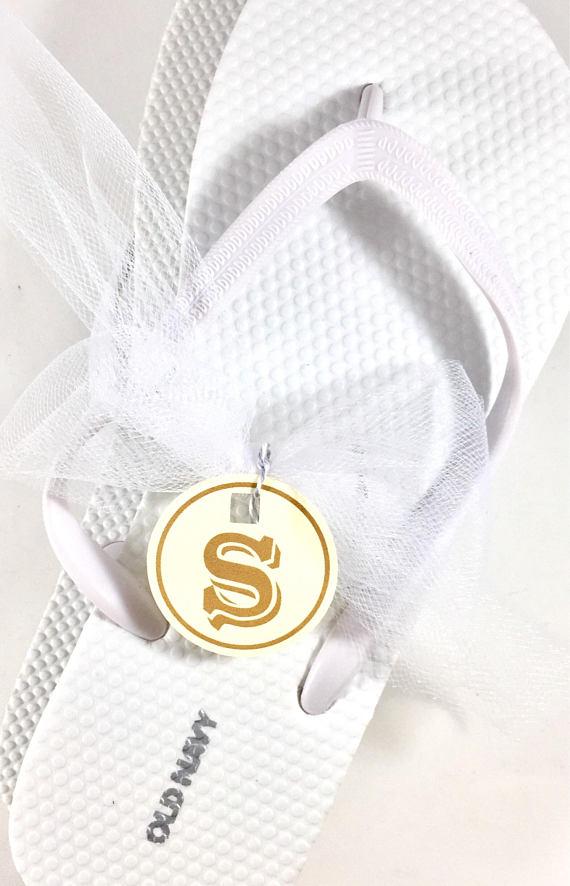 a6d11a4190f6 Beach Wedding Flip Flops Size Tags