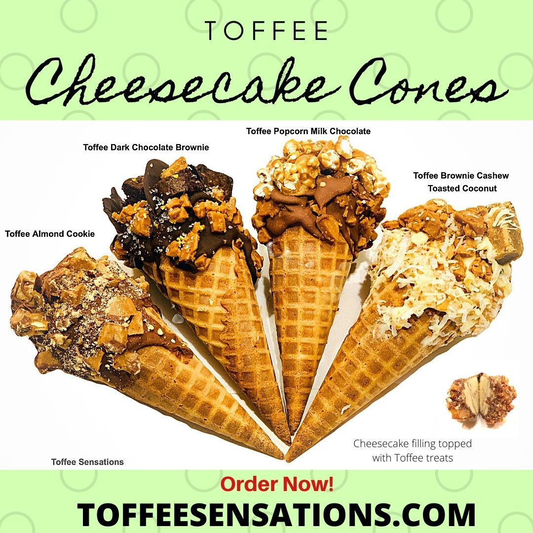 Photo of Toffee Cheesecake Cones
