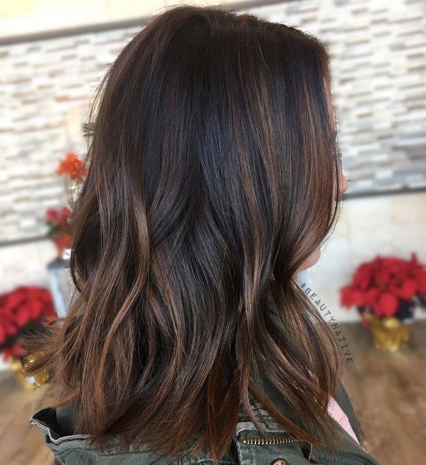 60 Chocolate Brown Hair Color Ideas For Brunettes Black Hair With Highlights Balayage Hair Chocolate Brown Hair Color
