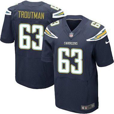 Men's San Diego Chargers #77 King Dunlap Navy Blue Team Color NFL Nike Elite Jersey