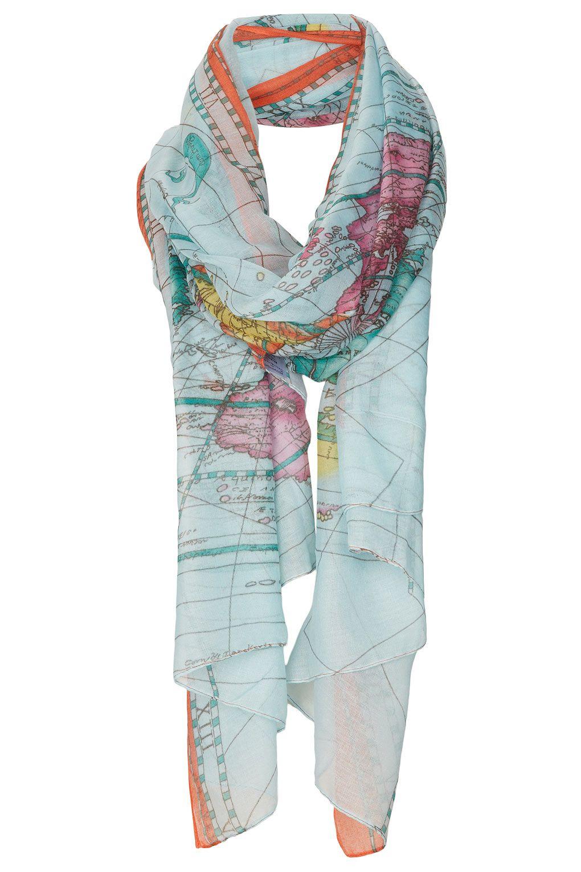 Map print scarf - Topshop