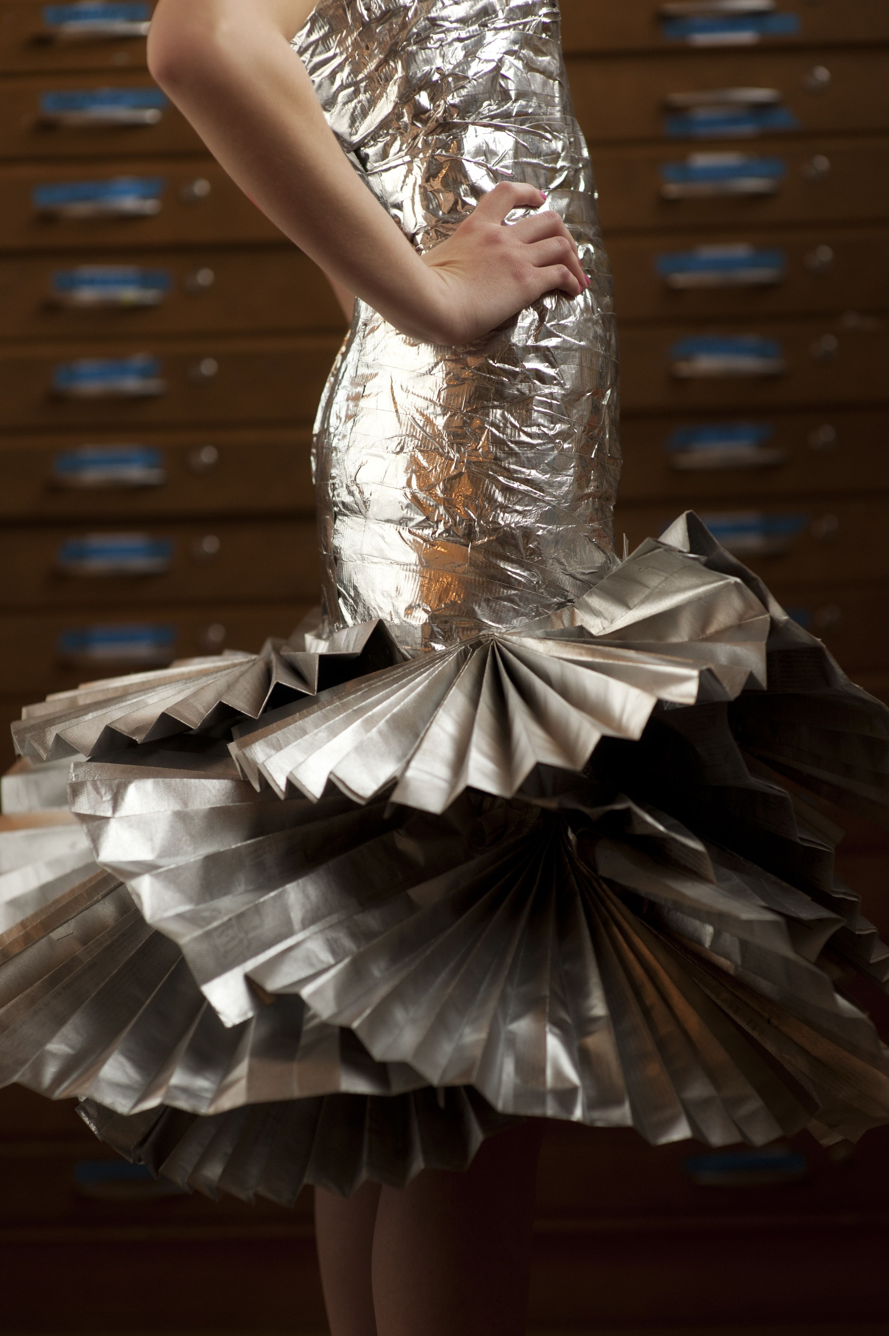Duct tape and Newspaper Dress   Fun ideas   Pinterest   Origami ...