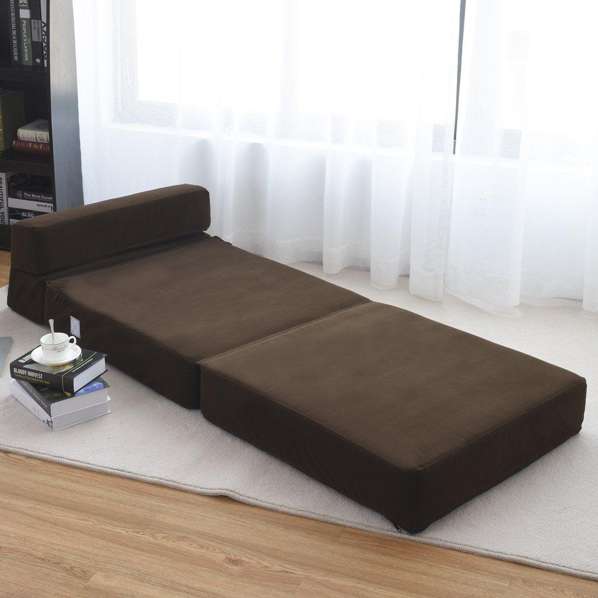 Giantex Fold Down Sofa Bed Floor Couch Foam Folding Modern Futon