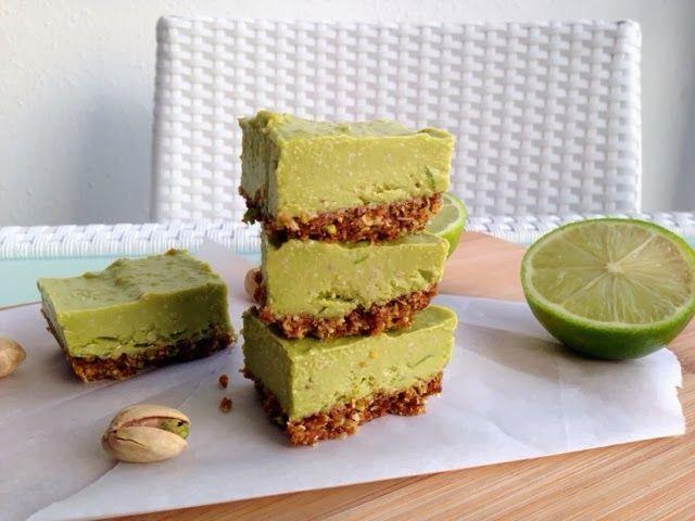 Raw Vegan Lime Bars w/ Pistachio Graham Crust - Healthie Panda